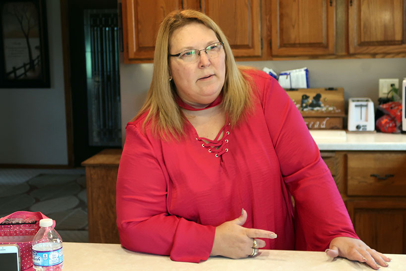 Erika Balza says her well in Kewaunee County has been contaminated