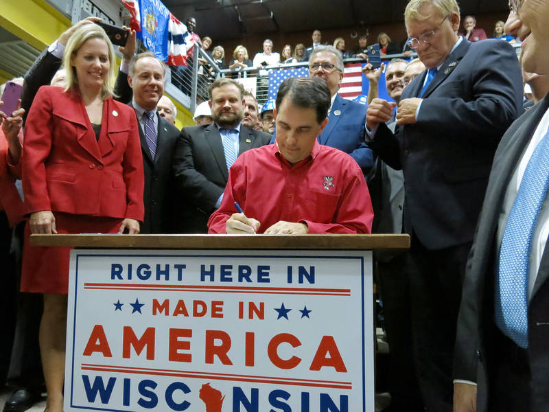 Gov. Scott Walker signing Foxconn bill