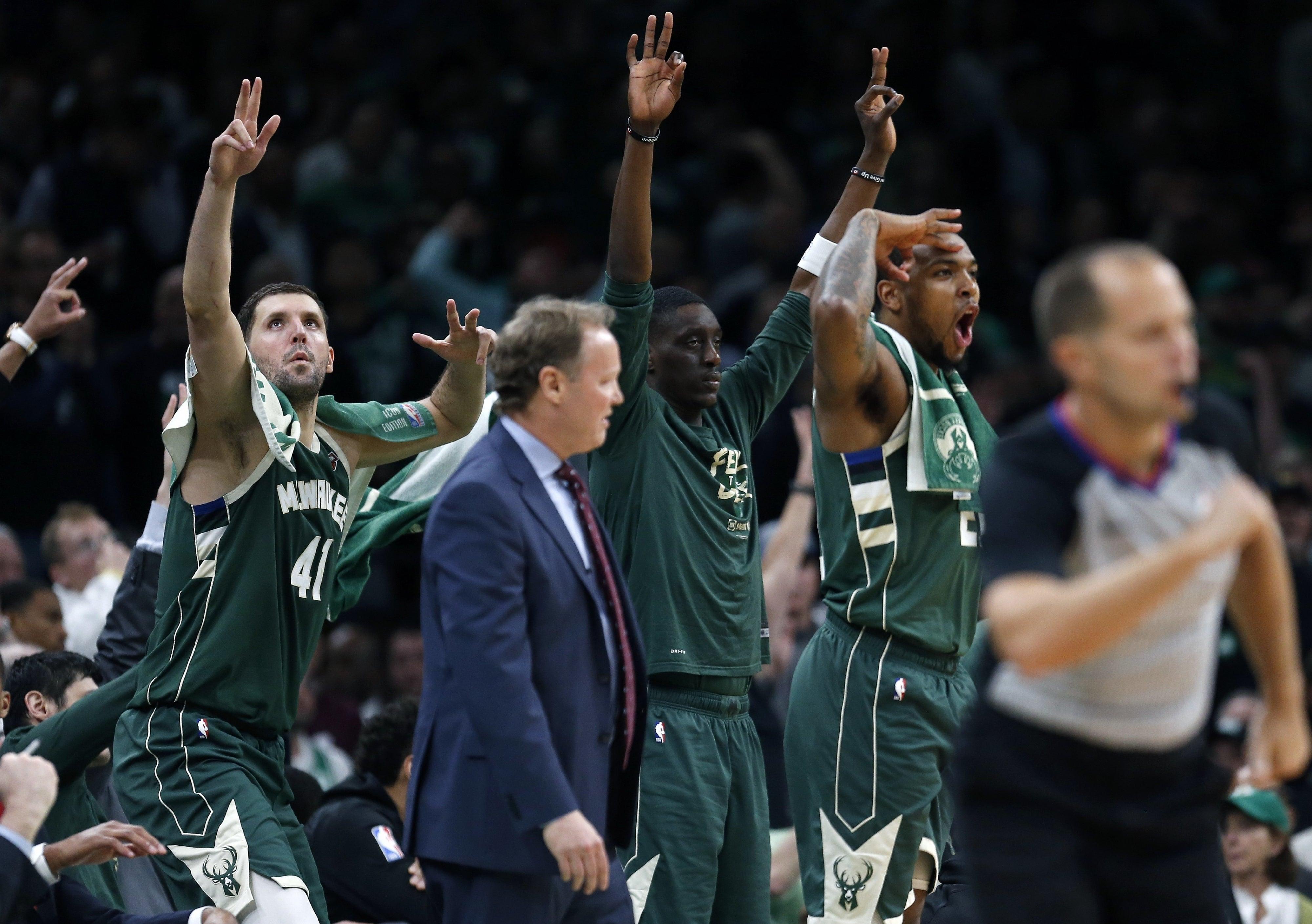 Milwaukee Bucks bench