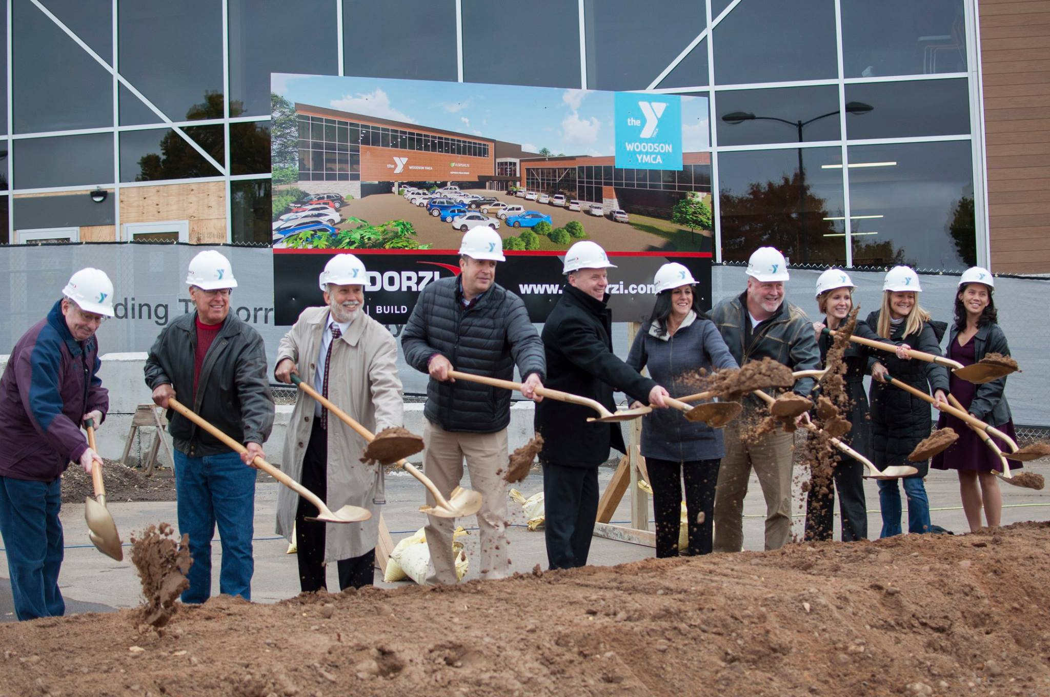 Community leaders break ground at the Woodson YMCA's $21 million expansion