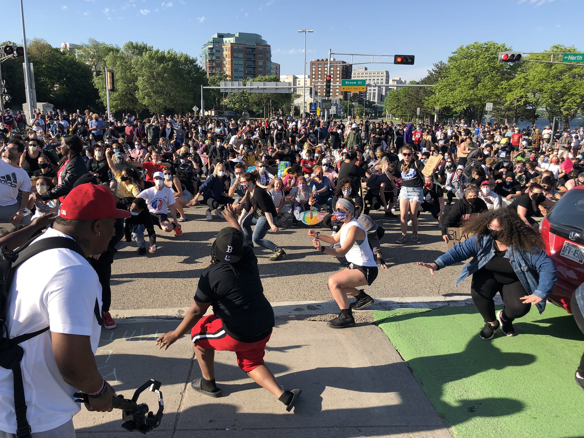 George Floyd Protesters Block Traffic In Madison March Through Milwaukee Wisconsin Public Radio