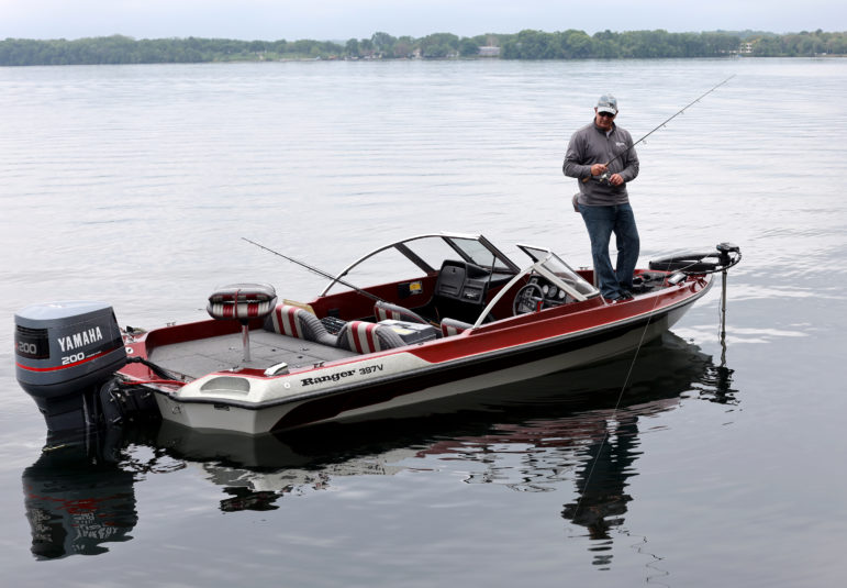 Kevin Reis fishing on Lake Monona