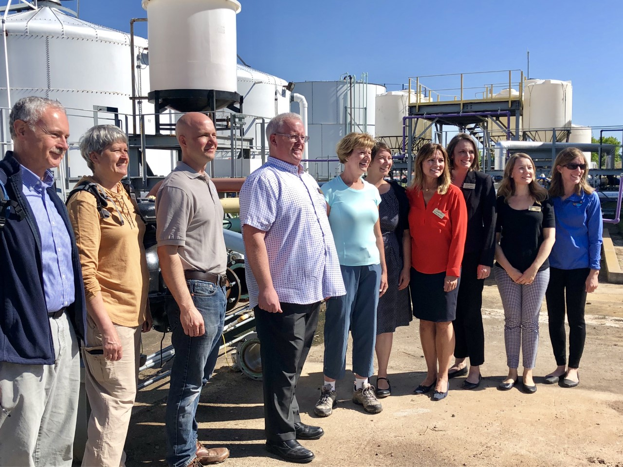 Group gathers at testing facility in Superior