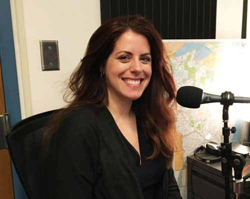 Photo of soprano Emily Birsan in WPR Studios