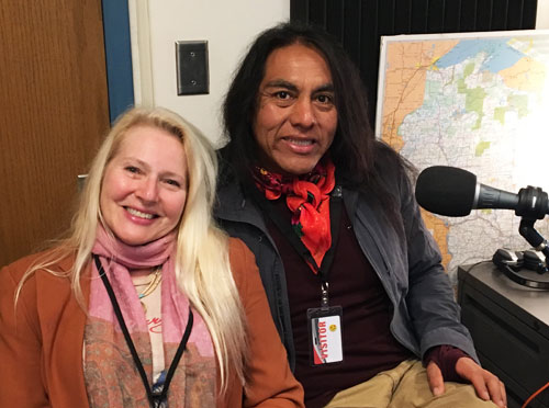 Cellist Dorothy Lawson and Flutist Robert Mirabal in WPR Studios