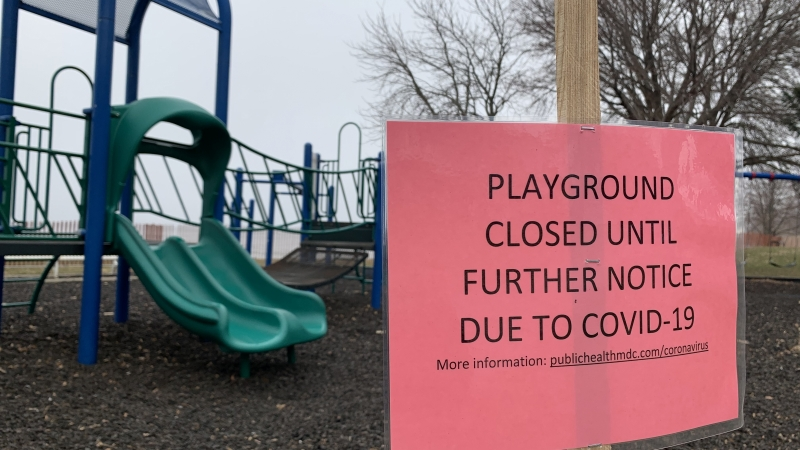 Playground at James Madison Park closed due to COVID-19
