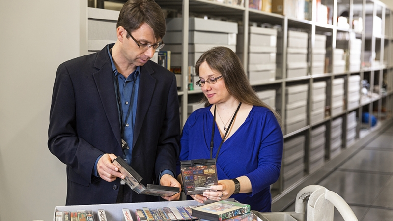 Jon-Paul Dyson, left, is director of The Strong Museum's International Center for the History of Electronic Games