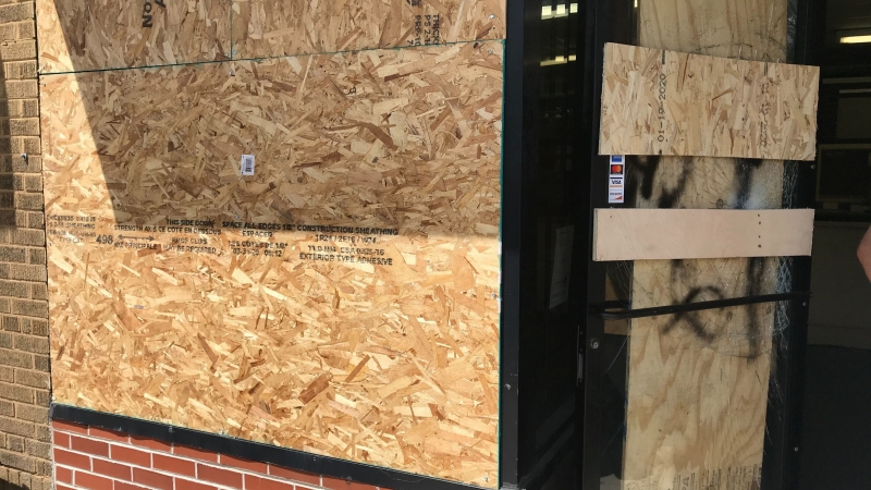 Boost Mobile store damaged and looted