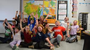 4th graders from Mineral Point Elementary School