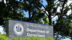 Administration building sign for Wisconsin Department of Corrections, Madison