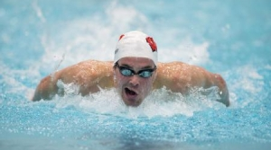 University of Wisconsin-Madison swimmer and Olympic contender Matt Hutchins