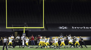 NFL football game between the New Orleans Saints and the Green Bay Packers