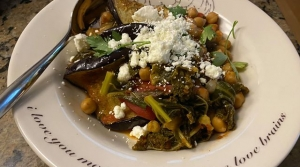 Read full article: Eggplant With Braised Chickpeas