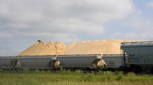 Frac sand seen at Chieftain Sand and Proppant, LLC