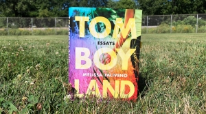 "Melissa Falvieno's debut essay collection ""Tomboyland"" in an Olbrich Park Softball Field  in Madison, Wisconsin. The Midwestern love letter is being celebrated by critics. Maureen McCollum/WPR"