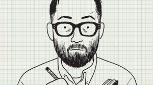 Self portrait of Adrian Tomine