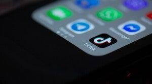Phone with the TikTok app