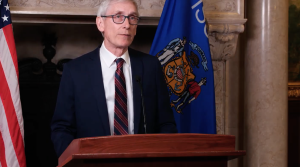 Democratic Gov. Tony Evers delivers his 2021 budget address.