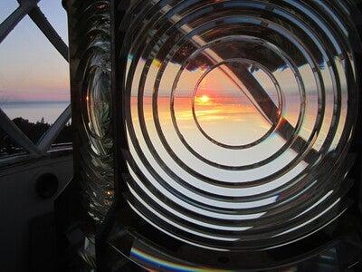 Fresnel Lens Damaged At Devils Island Light