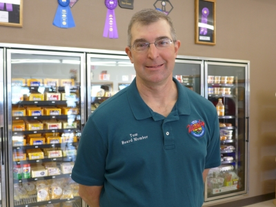Tom Schaub at Westby Cooperative Creamery