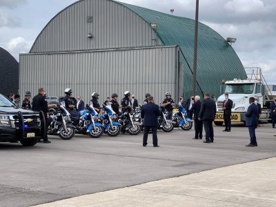 Motorcade arrived at Vice President Mike Pence's visit to Janesville