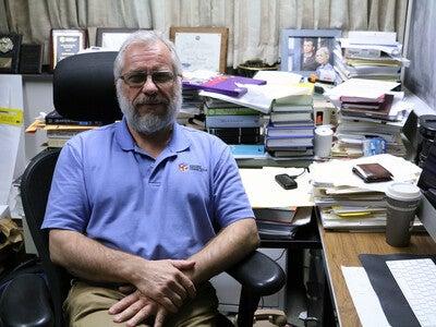 Kevin McLeod at his desk