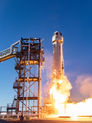Blue Origin New Shepard rocket launch
