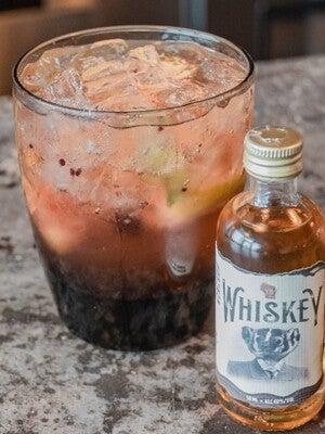 local liquor bottle, to-go cocktails, black sheep