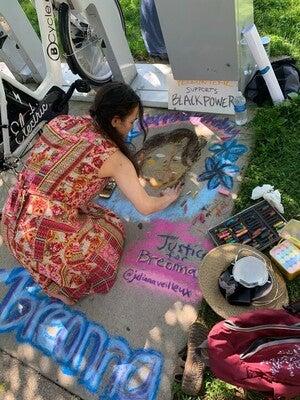 Madison resident Julia Veilleux draws Breonna Taylor