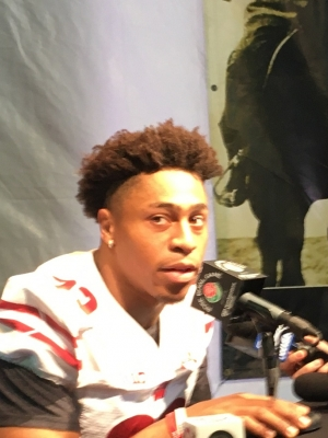Jonathan Taylor at Rose Bowl media day