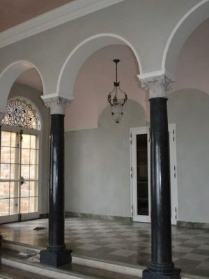 Shorewood mansion interior arches