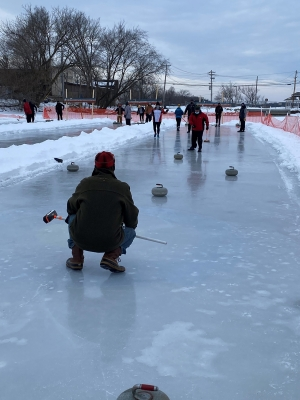 Curlers take their sport outside for a bonspiel in Pardeeville