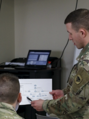 Wisconsin National Guard members discuss mission structure in response to COVID-10