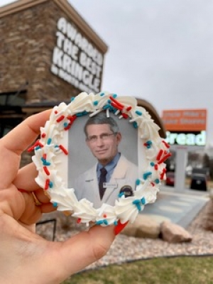 Uncle Mike's Bake Shoppe is offering cookies featuring Dr. Anthony Fauci