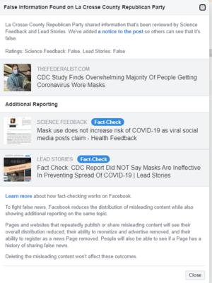 Facebook, La Crosse County Republican Party
