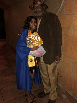Whitley Riley and her fatherLawrence