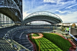 Miller Park, home of the MLB's Milwaukee Brewers