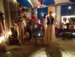 back stage at circus