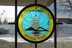 Stained glass art at UW-Stevens Point