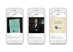 WEDC millennial ad campaign on a smartphone
