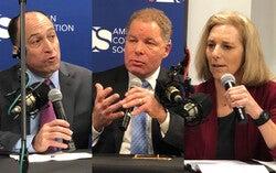 Wisconsin Supreme Court candidatesEd Fallone, Daniel Kelly andJill Karofsky