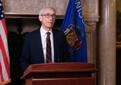 Democratic Gov. Tony Evers delivers his 2021 budget address.