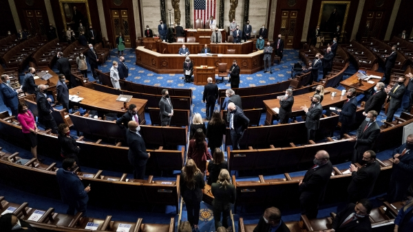 Electoral College votes being carried into a join session of the House and Senate