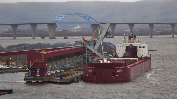 Ship Loads Coal At Midwest Energy Terminal In Superior