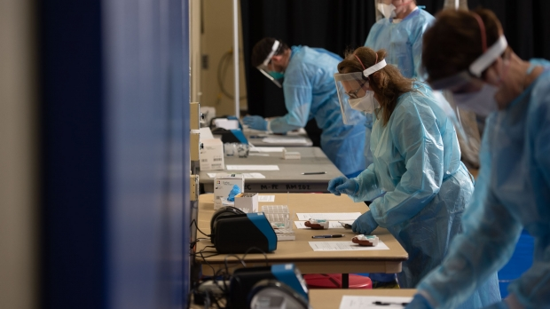 Antigen testing takes place at McPhee Physical Education Center
