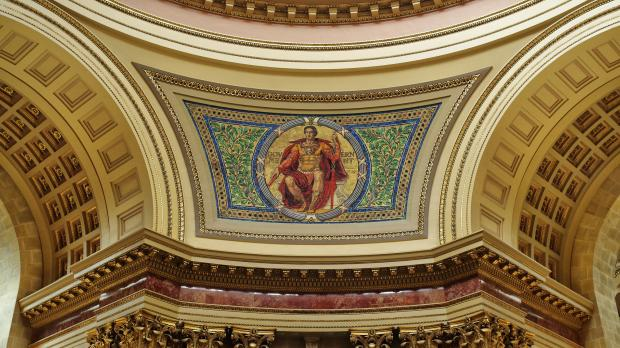 Government mosaic in the Wisconsin State Capitol Rotunda