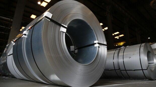 rolls of steel