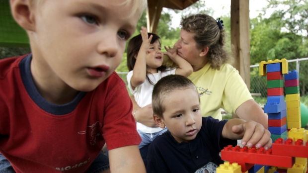 Four-year-olds play at the Early Education Center of Perry County