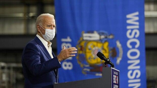 Joe Biden speaks at Wisconsin Aluminum Foundry in Manitowoc
