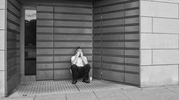 Guy sitting alone